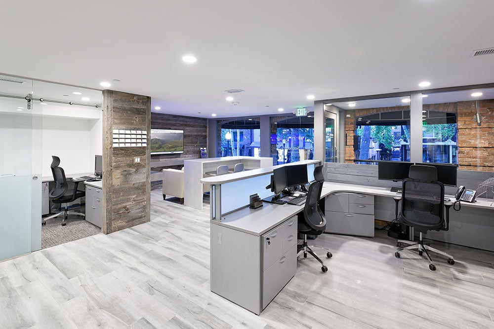 Superb The Beautiful Renovation Of Our Aspen Hyman Mall Office Is Finally  Complete! The Entire First Floor Was Stripped To The Studs, Knocking Down  All Of The ...
