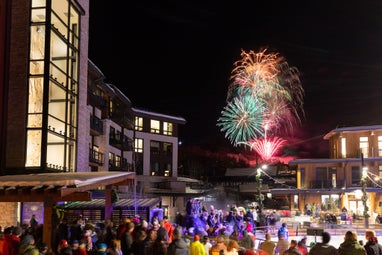 Snowmass Base Village Grand Opening Fireworks